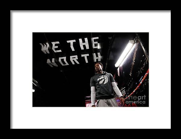 Playoffs Framed Print featuring the photograph Demar Derozan by Mark Blinch