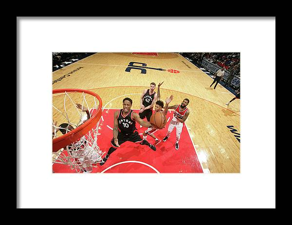 Nba Pro Basketball Framed Print featuring the photograph Demar Derozan by Ned Dishman