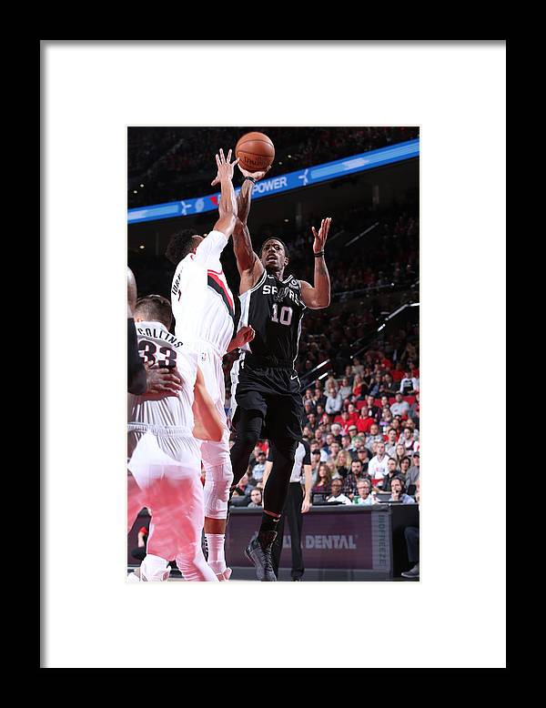 Nba Pro Basketball Framed Print featuring the photograph Demar Derozan by Sam Forencich