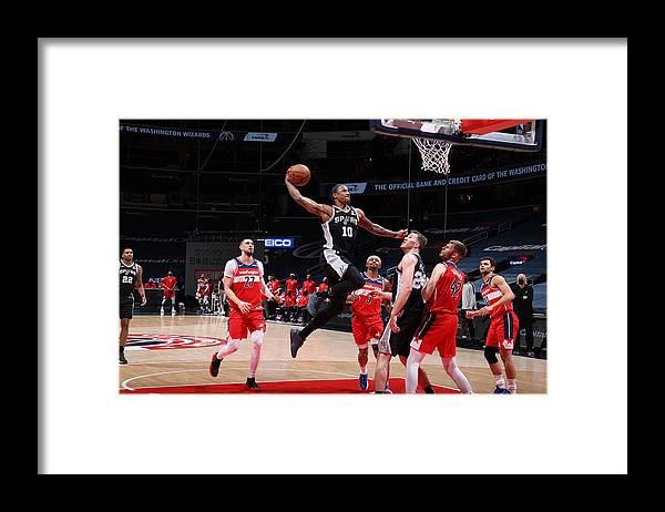 Nba Pro Basketball Framed Print featuring the photograph Demar Derozan by Stephen Gosling