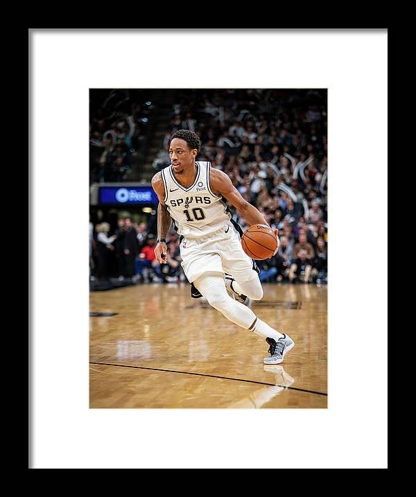 Nba Pro Basketball Framed Print featuring the photograph Demar Derozan by Zach Beeker