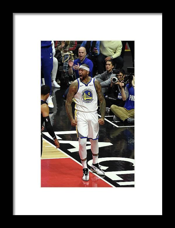 Nba Pro Basketball Framed Print featuring the photograph Demarcus Cousins by Adam Pantozzi