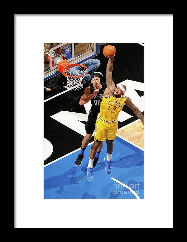 Nba Pro Basketball Framed Print featuring the photograph Demarcus Cousins and Aaron Gordon by Fernando Medina
