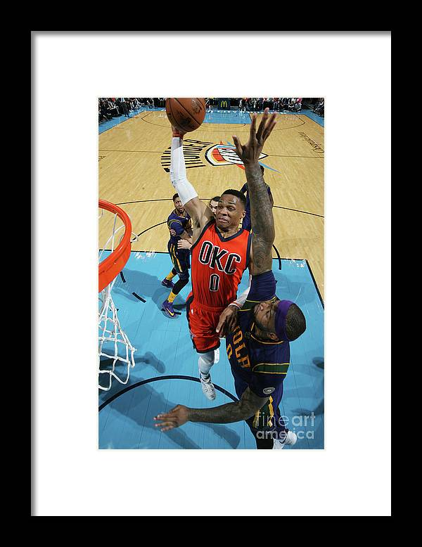 Nba Pro Basketball Framed Print featuring the photograph Demarcus Cousins and Russell Westbrook by Layne Murdoch