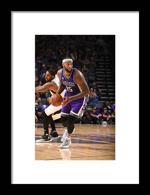 Nba Pro Basketball Framed Print featuring the photograph Demarcus Cousins by Garrett Ellwood