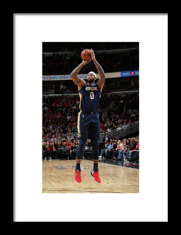 Nba Pro Basketball Framed Print featuring the photograph Demarcus Cousins by Gary Dineen