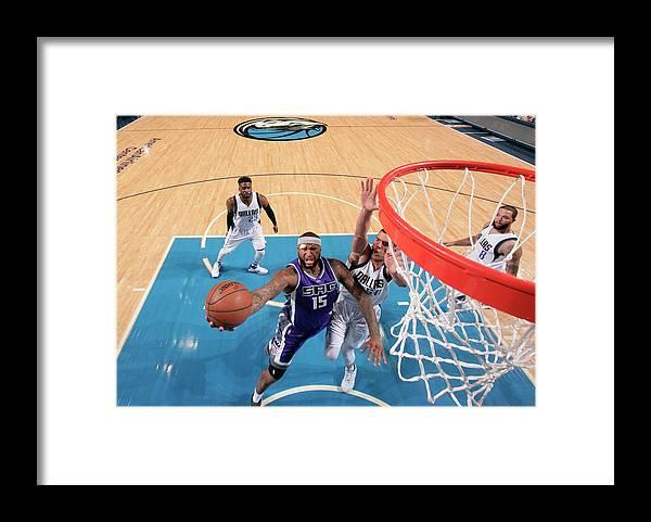 Nba Pro Basketball Framed Print featuring the photograph Demarcus Cousins by Glenn James