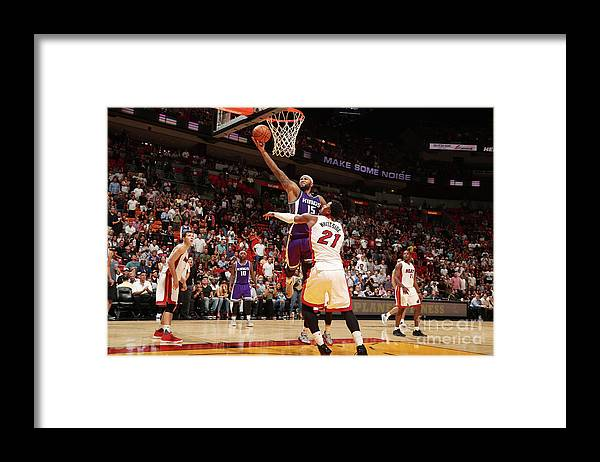 Nba Pro Basketball Framed Print featuring the photograph Demarcus Cousins by Issac Baldizon