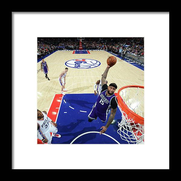 Nba Pro Basketball Framed Print featuring the photograph Demarcus Cousins by Jesse D. Garrabrant