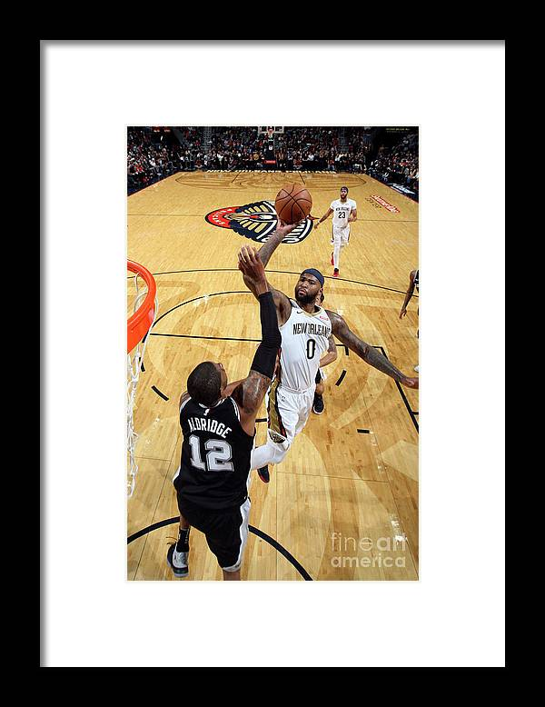Smoothie King Center Framed Print featuring the photograph Demarcus Cousins by Layne Murdoch Jr.