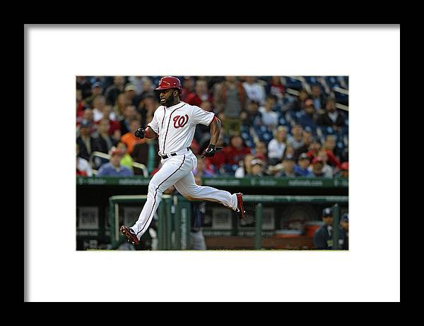 American League Baseball Framed Print featuring the photograph Denard Span and Anthony Rendon by Patrick Smith