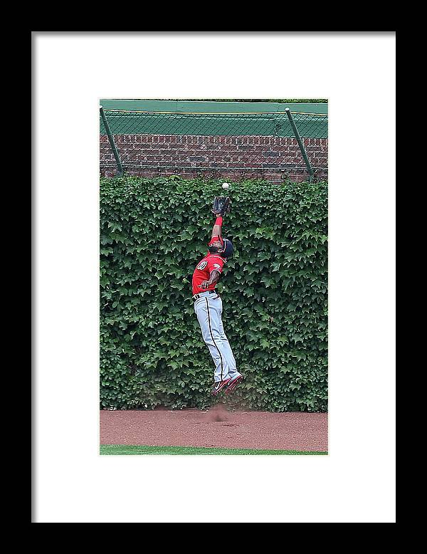 Ball Framed Print featuring the photograph Denard Span and Justin Ruggiano by Jonathan Daniel