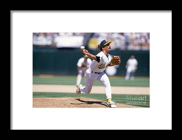 American League Baseball Framed Print featuring the photograph Dennis Eckersley by Jed Jacobsohn