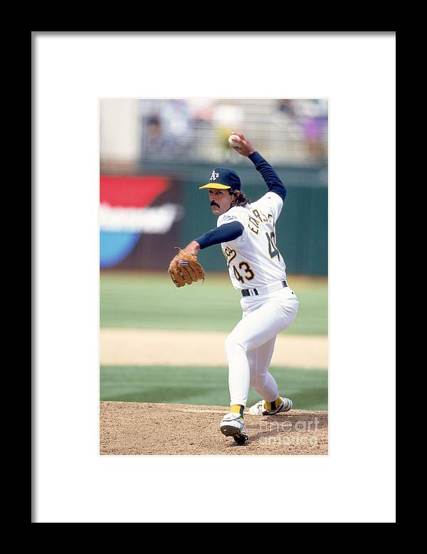 1980-1989 Framed Print featuring the photograph Dennis Eckersley by Jeff Carlick