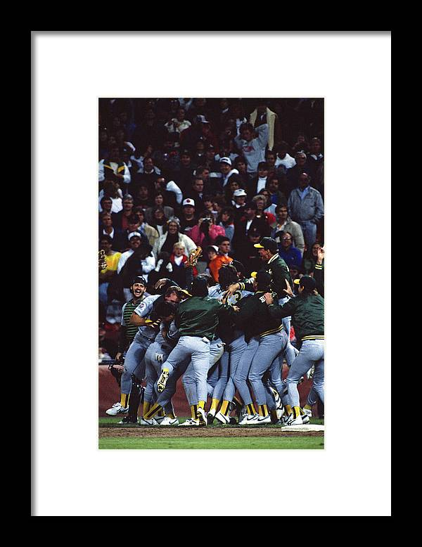 Candlestick Park Framed Print featuring the photograph Dennis Eckersley by Mlb Photos