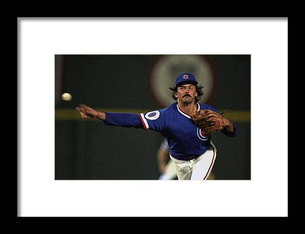 1980-1989 Framed Print featuring the photograph Dennis Eckersley by Ronald C. Modra/sports Imagery