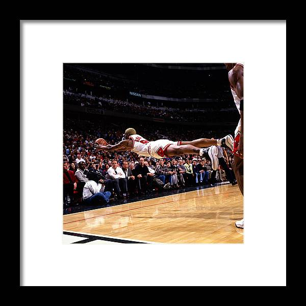 Chicago Bulls Framed Print featuring the photograph Dennis Rodman by Sam Forencich