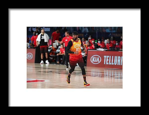Nba Pro Basketball Framed Print featuring the photograph Denver Nuggets v Utah Jazz by Joe Murphy