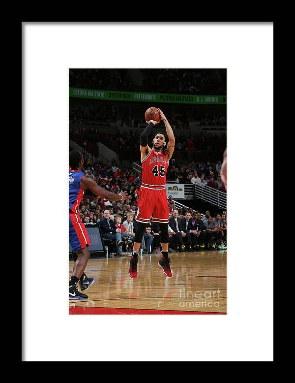 Nba Pro Basketball Framed Print featuring the photograph Denzel Valentine by Gary Dineen