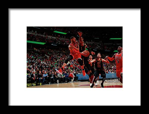 United Center Framed Print featuring the photograph Denzel Valentine by Jeff Haynes
