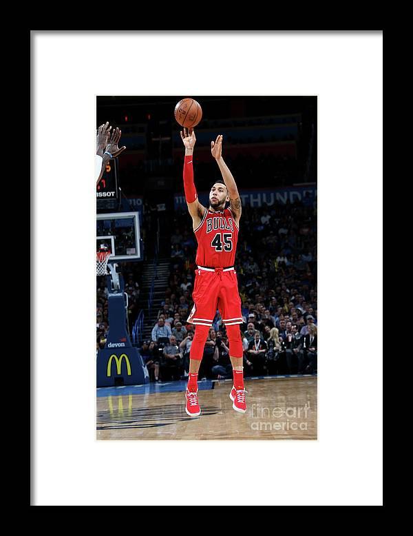 Nba Pro Basketball Framed Print featuring the photograph Denzel Valentine by Layne Murdoch