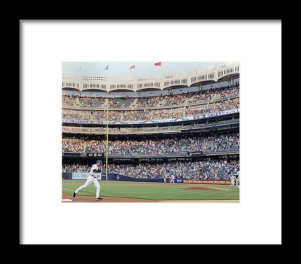 People Framed Print featuring the photograph Derek Jeter And Curtis Granderson by Elsa