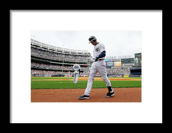 Derek Jeter Framed Print featuring the photograph Derek Jeter by Jim Mcisaac