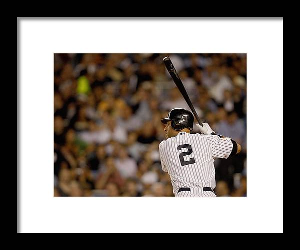 People Framed Print featuring the photograph Derek Jeter by Nick Laham