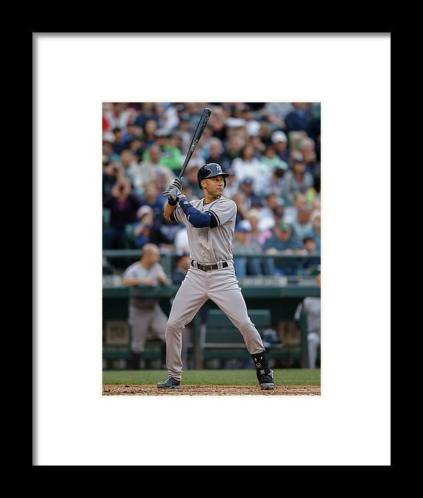 People Framed Print featuring the photograph Derek Jeter by Otto Greule Jr