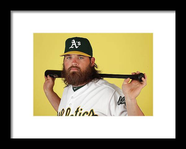 Media Day Framed Print featuring the photograph Derek Norris by Christian Petersen