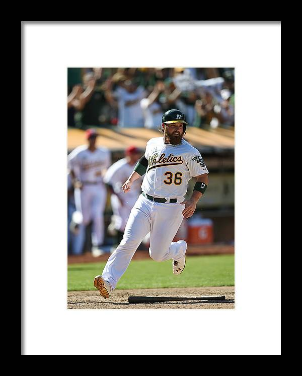 American League Baseball Framed Print featuring the photograph Derek Norris by Thearon W. Henderson