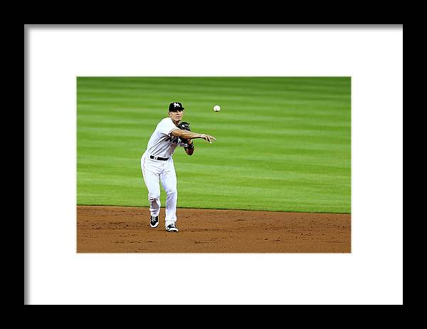 American League Baseball Framed Print featuring the photograph Derek Parks by Alex Trautwig