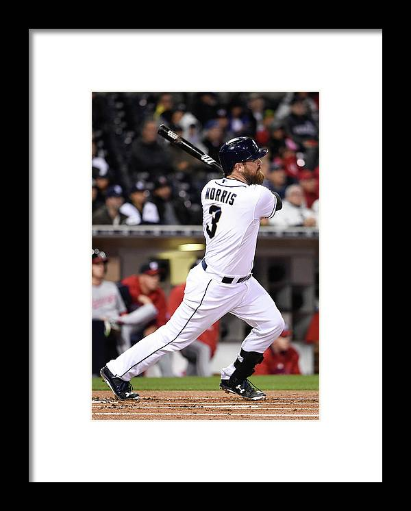 American League Baseball Framed Print featuring the photograph Derek Parks by Denis Poroy