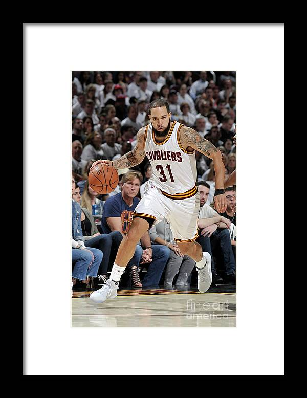 Playoffs Framed Print featuring the photograph Deron Williams by David Liam Kyle