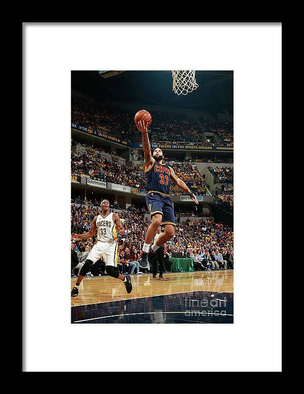 Playoffs Framed Print featuring the photograph Deron Williams by Jeff Haynes