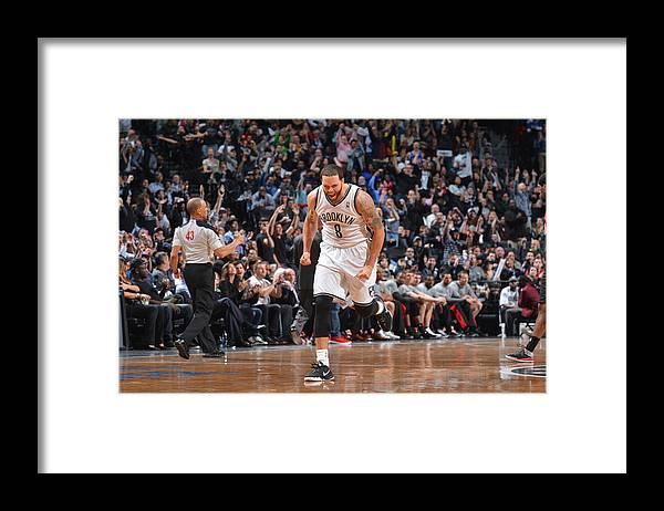 Nba Pro Basketball Framed Print featuring the photograph Deron Williams by Jesse D. Garrabrant