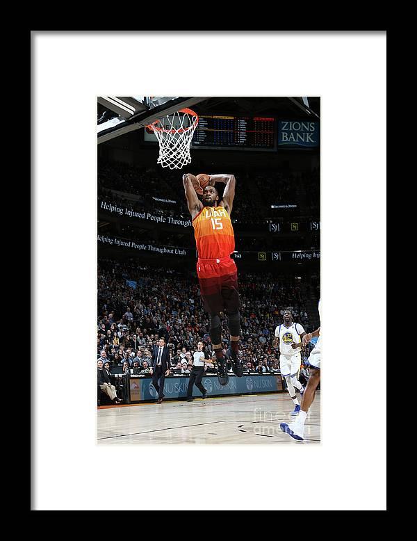 Nba Pro Basketball Framed Print featuring the photograph Derrick Favors by Melissa Majchrzak