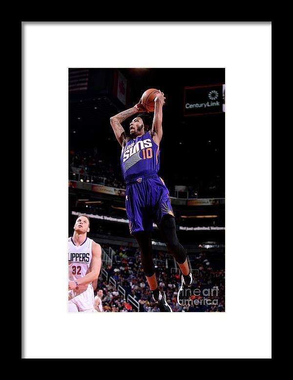 Nba Pro Basketball Framed Print featuring the photograph Derrick Jones by Barry Gossage