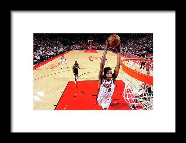 Nba Pro Basketball Framed Print featuring the photograph Derrick Jones by Bill Baptist