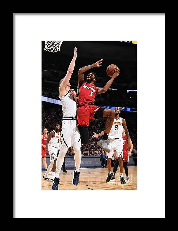 Nba Pro Basketball Framed Print featuring the photograph Derrick Jones by Garrett Ellwood