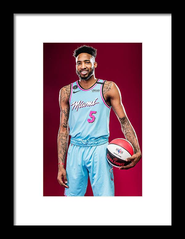 Nba Pro Basketball Framed Print featuring the photograph Derrick Jones by Michael J. LeBrecht II