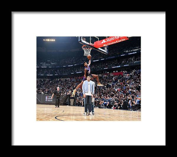 Event Framed Print featuring the photograph Derrick Jones by Nathaniel S. Butler