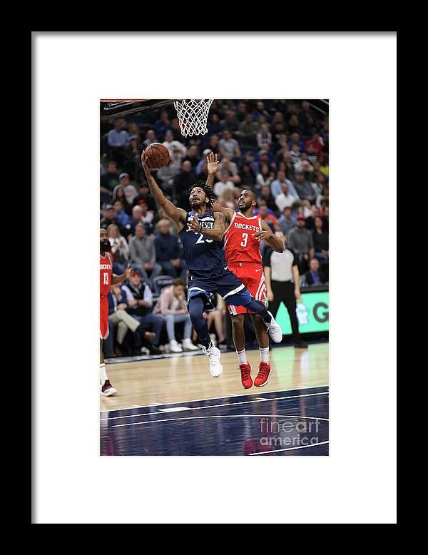 Nba Pro Basketball Framed Print featuring the photograph Derrick Rose and Chris Paul by Jordan Johnson