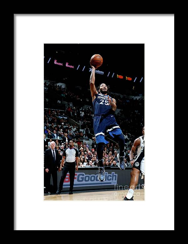 Nba Pro Basketball Framed Print featuring the photograph Derrick Rose by Chris Covatta