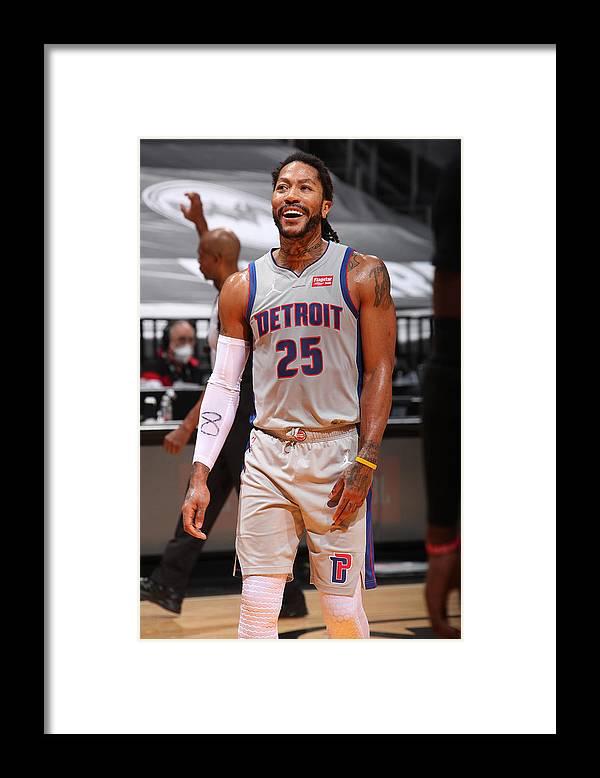 Nba Pro Basketball Framed Print featuring the photograph Derrick Rose by Issac Baldizon