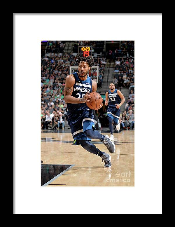 Nba Pro Basketball Framed Print featuring the photograph Derrick Rose by Mark Sobhani