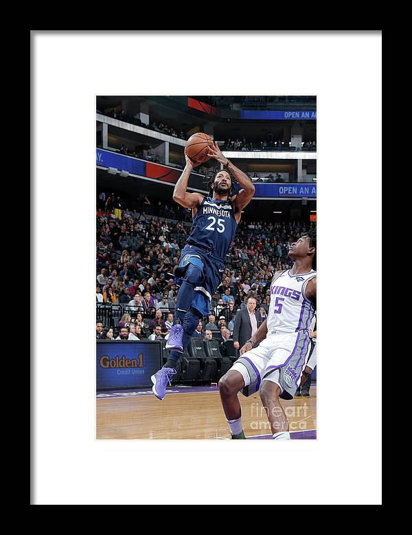 Nba Pro Basketball Framed Print featuring the photograph Derrick Rose by Rocky Widner