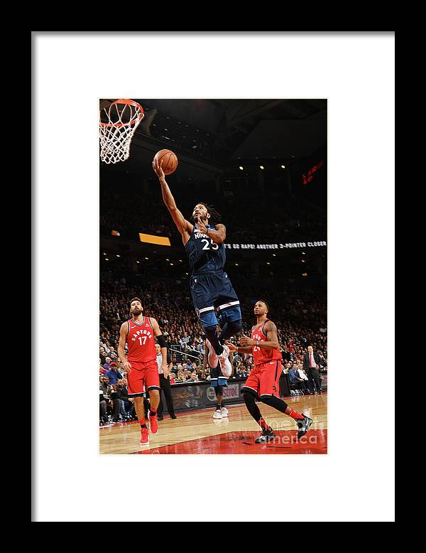 Nba Pro Basketball Framed Print featuring the photograph Derrick Rose by Ron Turenne