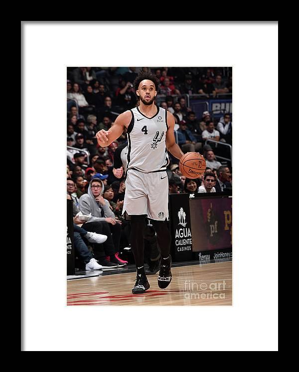 Nba Pro Basketball Framed Print featuring the photograph Derrick White by Adam Pantozzi