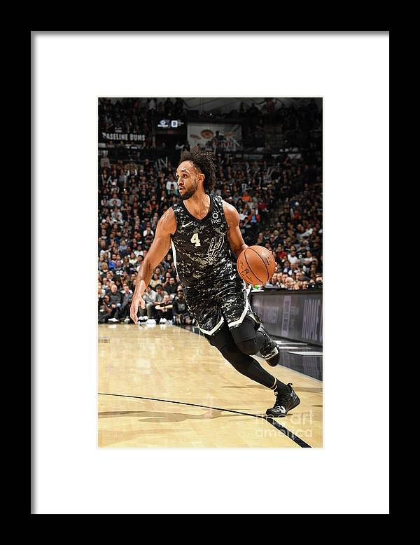 Nba Pro Basketball Framed Print featuring the photograph Derrick White by Andrew D. Bernstein